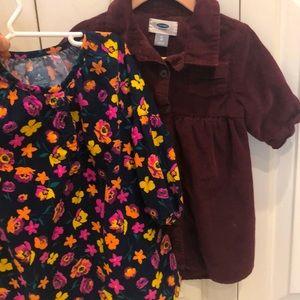 2 corduroy dresses
